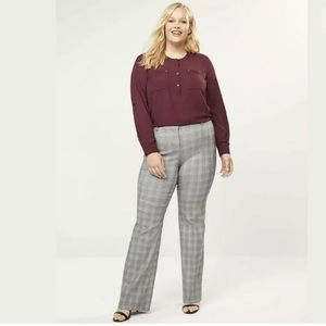 New LANE BRYANT The Allie Plaid Sexy Stretch Pants